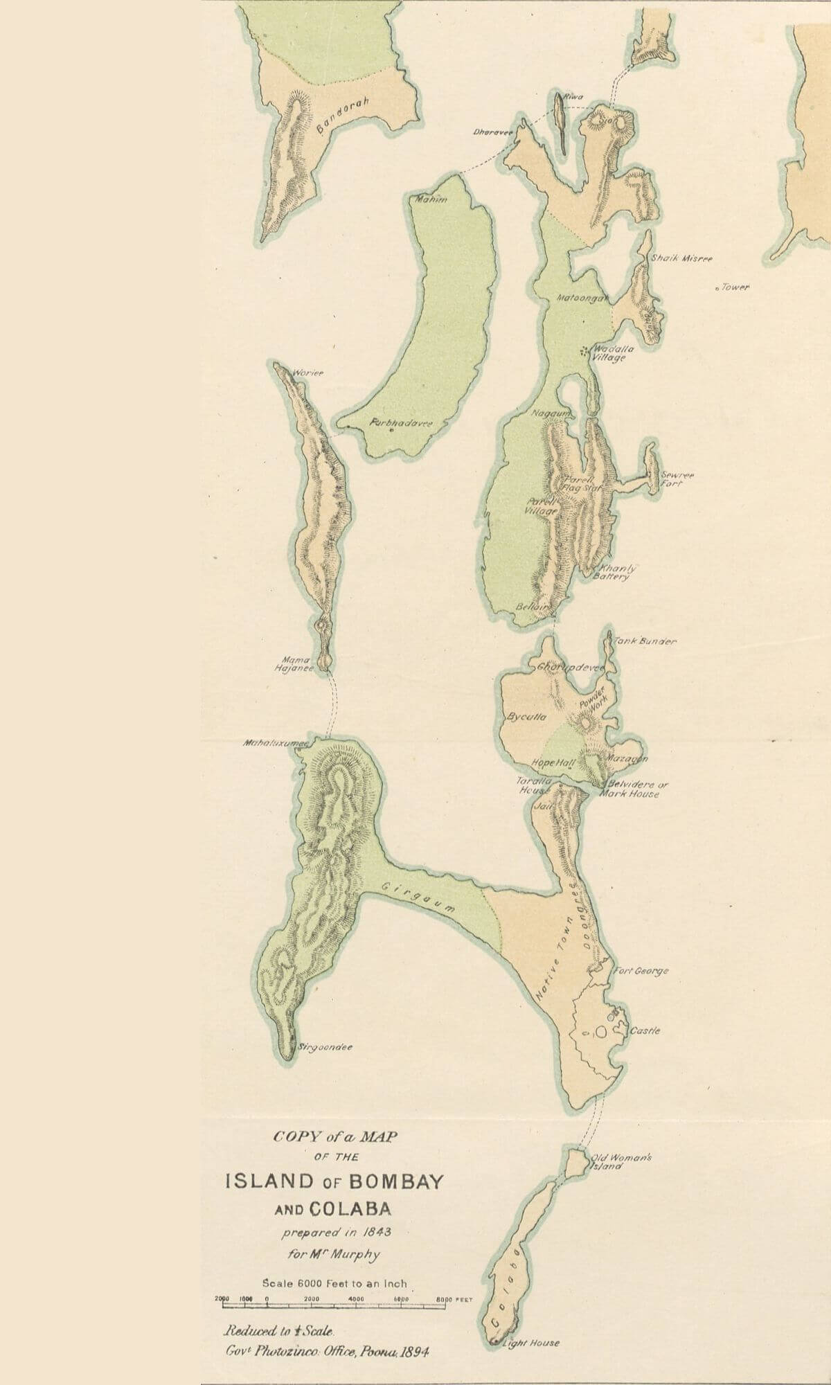 Bombay and Colaba, 1843